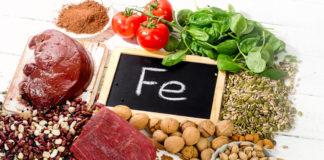 fier minerale alimente
